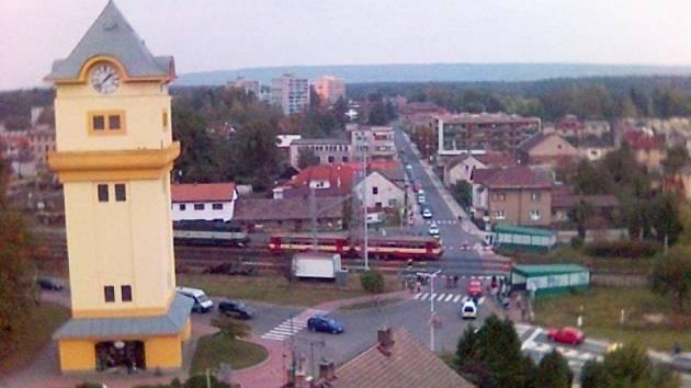 Přejezd v Týništi nad Orlicí.