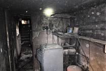 Požár domu - Dobré