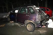 Osmnáctiletý řidič střet s protijedoucím vozidlem u Chábor nepřežil.