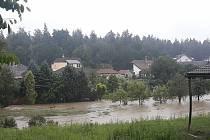Silný déšť opět trápí Rychnovsko. Foto: Facebook/Rychnováci
