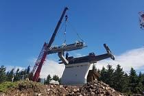 Ze stavby nové šestisedačky v Říčkách. Zdroj: facebook Ski centra Říčky