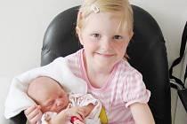 NELA SÝKOROVÁ: Rodiče Jana a Petr Sýkorovi z Přepych přivedli na svět dceru Nelu, narodila se 30. května ve 4.48 hodin. Vážila 3,21 kilogramů a měřila 50 centimetrů. Na sestřičku se těšila i Eliška.