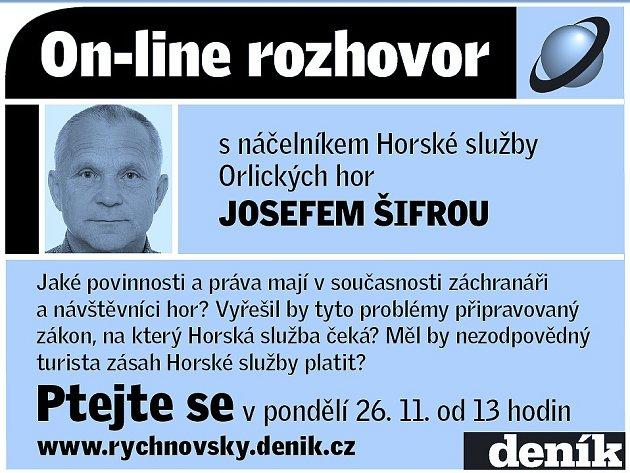 On-line rozhovor s Josefem Šifrou.