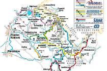 Linky cyklobusů v Orlických horách v sezoně 2011