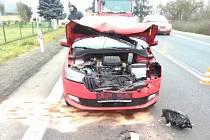 Další nehoda v Česticích skončila zraněním.