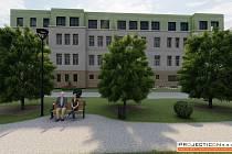 Vizualizace domova pro seniory v Opočně.