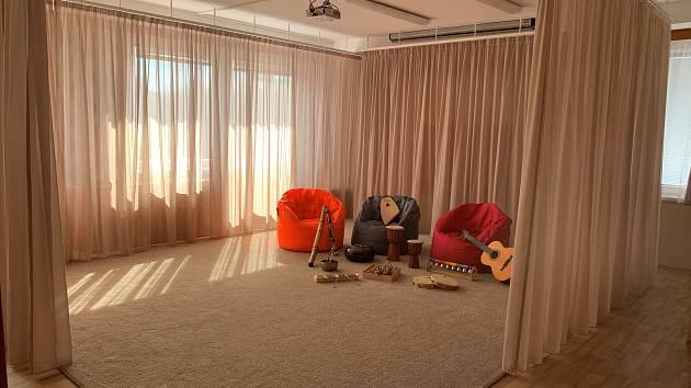 Centrum Orion má nové prostory pro muzikoterapii i webové stránky.