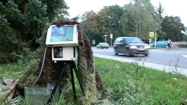 Měření rychlosti Městskou policií v Rychnově nad Kněžnou