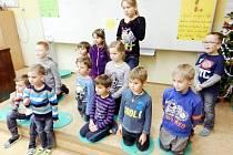 Budoucí školáci se potkali v rychnovské základní škole naposledy před jejich velkým dnem. Zápisem do první třídy. Ten se tady uskuteční 15. ledna odpoledne.