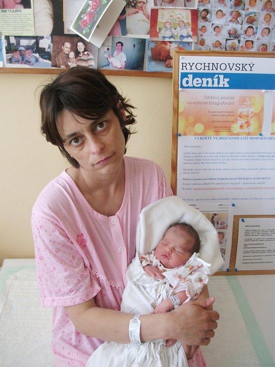 ELIŠKA MACHOVÁ:  Rodiče Radka Machová a Miroslav Dvořák z Častolovic se radují z dcery. Narodila se 10. května ve 12:58 hodin a po narození vážila 2,53 kg a měřila 48 cm.  Doma se na malou sestřičku těšili tři sourozenci. Tatínek to u porodu zvládal state