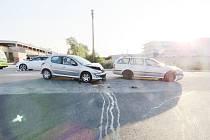 Dopravní nehoda v Lipovce.
