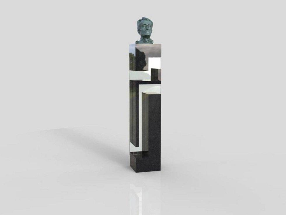 Kupkův pomnílk bude  v sobotu odhalen na náměstí v Opočně. Autorem je  akademický sochař Marian Karel.