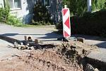 Stavební práce v Borohrádku.