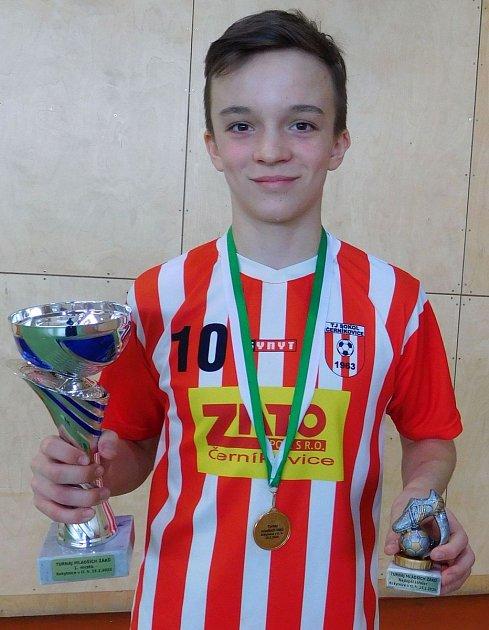 Nejlepším střelcem turnaje se stal Pavel Kumpošt zČerníkovic.