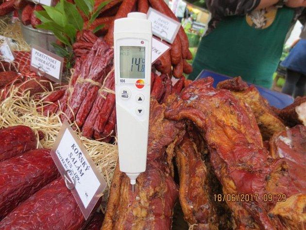 Nehygienický prodej na farmářských trzích.