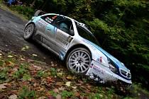 Vítězná posádka Odložilík/Tureček na voze Citroen Xsara WRC na archivním snímku z Rally Jeseníky.