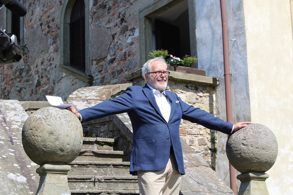 Z natáčení třetí série na hradě Potštejn.