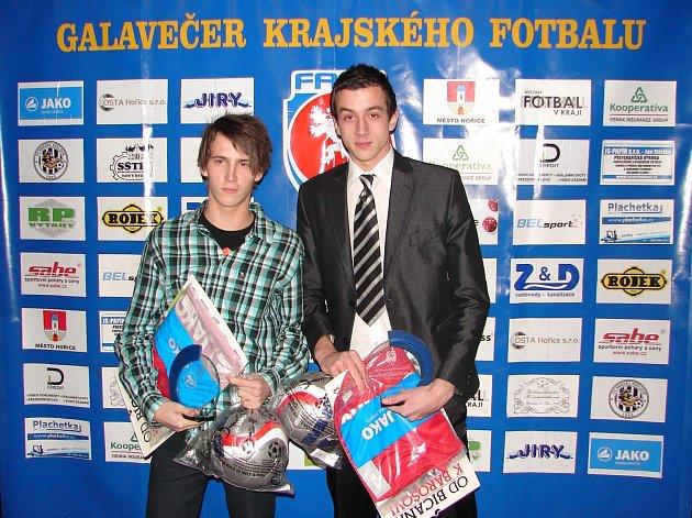 JUNIOR BOMBERY za rok 2012 se stali Tomáš Králík z Baníku Vamberk a Jakub Hartman z FK Chlumec nad Cidlinou.