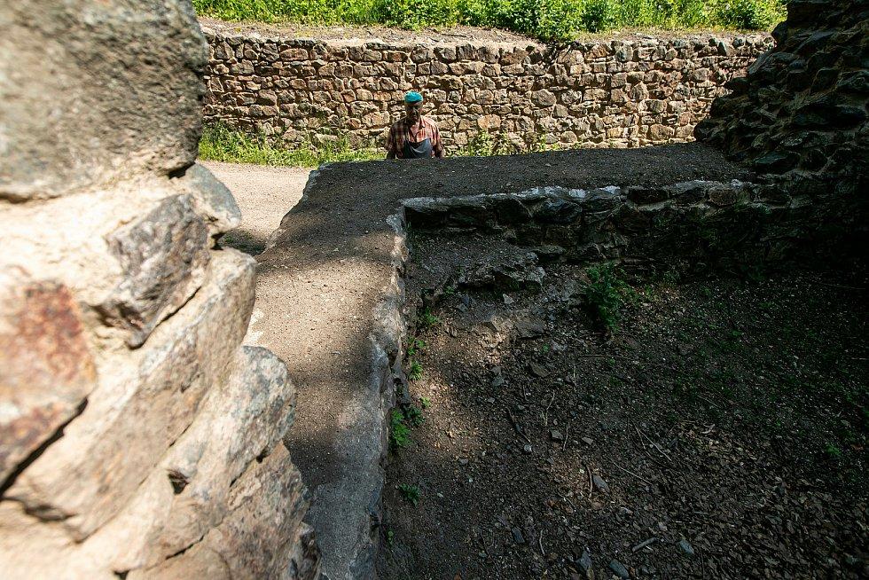 Z potštejnských hradeb.