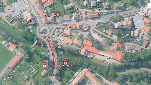 Situace na mapě