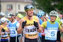 Stanislav Řezáč měl důvod k radosti – vyhrál oba závody na kolečkových lyžích Orlický Rollerski Cup a navíc vylepšil traťový rekord na deset kilometrů.