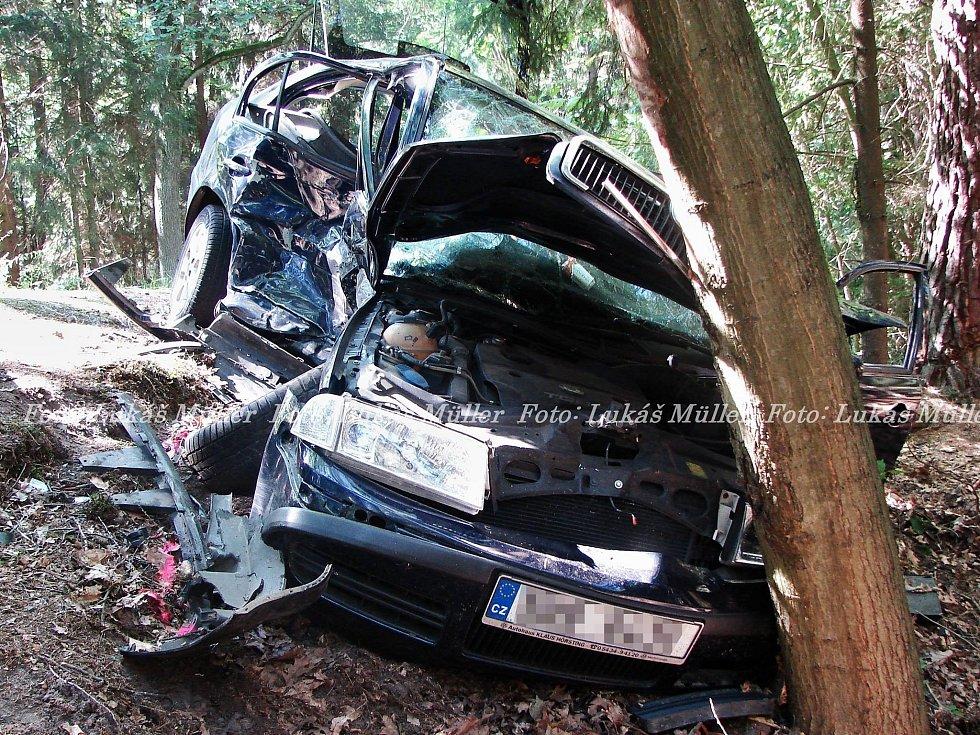 Nehoda u Borohrádku.