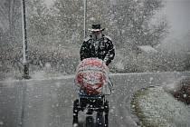 Do Orlických hor přišla zima.