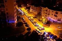 Požár bytu v Mírové ulici v Rychnově nad Kněžnou.