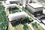 Vizualizace budoucí podoby areálu rychnovské nemocnice.