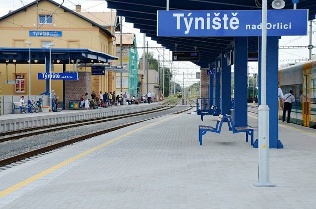 Opravené nádraží v Týništi