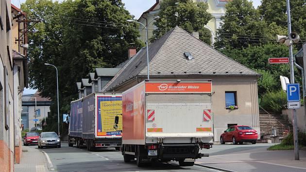 Provoz v Komenského ulicí