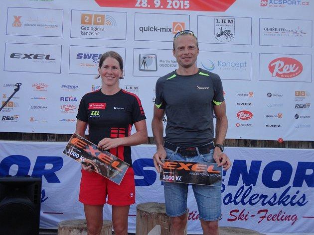 Čtvrtý ročník výjezdu na Šerlich se startem v Orlickém Záhoří vyhráli Kateřina Smutná a Stanislav Řezáč.