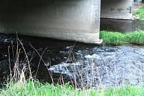 Odpadky odnášel tok Orlice loni až k Týništi. Teď se situace zlepšila, Romové žijící u mostu začali používat popelnice.