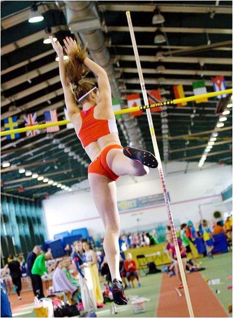 Ve skoku otyči Kateřina Hlávková vylepšila krajský rekord.
