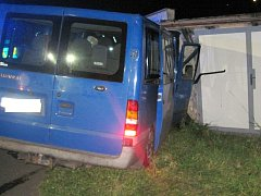 Dopravní nehoda dvou vozidel v Dobrušce.