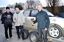 Stříbrné poháry vybojovali na populárním rallysprintu ve Slušovicích bratři Hovorkové se svojí Felicií.