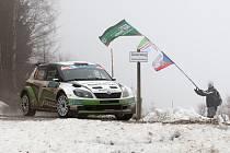 TOVÁRNÍ TÝM Škody Auto ve složení Jan Kopecký – Pavel Dresler s vozem Škoda Fabia S2000 (na snímku) vyhrál  finále Jänner rallye v rakouském Freistadtu.