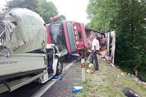 Tragická dopravní nehoda u Rybné nad Zdobnicí.