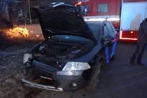 Havárie osobního automobilu v Javornici.