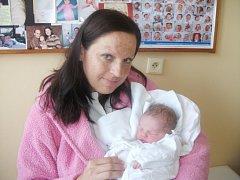 VENDULA ALDORFOVÁ: Rodiče Monika Sedlatá a Tomáš Aldorf z Kvasin přivedli na svět dceru. Narodila se 14. 11. v 4.46 hodin s váhou 3,37 kg a délkou 51 cm. Na malou sestřičku se doma těšila Danielka.