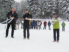 Slavnostní přestřižení pásky ve Ski centru Říčky v Orlických horách