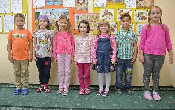 Žáci 1.třídy ze ZŠ Pohoří.