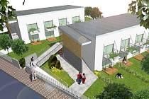 Vizualizace stavby nových sociálních bytů v Borohrádku