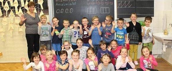 Žáci třídy 1.B ze Základní školy Vamberk.