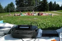 Kostelecké mažoretky Marlen tráví letní soustředění v Orlickém Záhoří.
