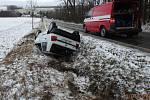 Havárie osobního automobilu v Lipovce.