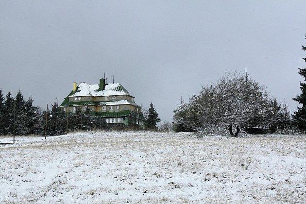 13.10.2009 - první sníh na horách.