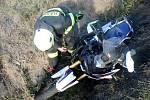 Havárie motorkáře u Rychnova.