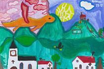 Jedna z ilustrací - Drak štěstí