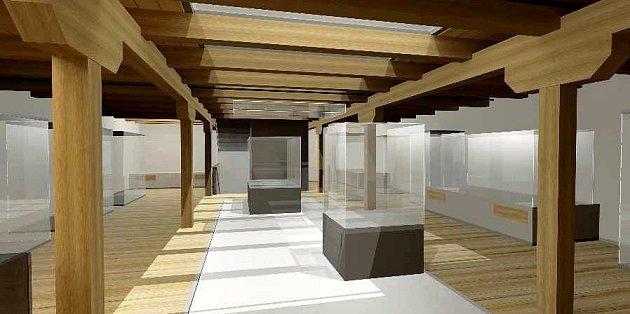 MODERNÍ INTERIÉR, kde bude hrát prim přírodní dřevo a sklo. Konečná podoba muzea se už pomalu blíží. Nyní finišují stavební práce.